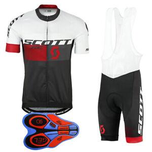 Mens Team Cycling Jersey Bib Shorts Set Short Sleeve Bike Outfits Sports Uniform
