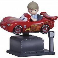 "Disney Precious Moments 134101  Lightning McQueen"" Kiddie Ride Resin Music Box"