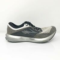 Brooks Mens Levitate 1102691D156 Silver Black Running Shoes Lace Up Size 7.5 D