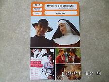 CARTE FICHE CINEMA 2010 MYSTERES DE LISBONNE Adriano Luz José Afonso Pimentel