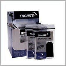 "Ebonite 1"" Black Bowling Tape 60 Pieces - 2 Packs Smooth For Bowling Ball"