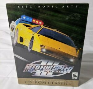 BRAND NEW Oldstock Need for Speed III 3 Hot Pursuit BIG BOX VER. PC Game CIB