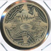 Australia, 2008 One Dollar, $1, Elizabeth II (Planet Earth) - Proof
