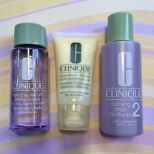 Clinique Skincare 3 pc Lot - Clarifying, Remover, Dramatically Different Lotion