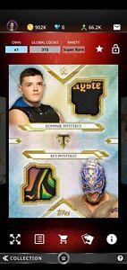 Topps WWE SLAM 2020 Triple Threads Gold Dual Relic Dominik & Rey Mysterio