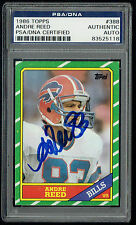 Andre Reed signed autograph auto 1986 Topps Football Card #388 PSA/DNA Slabbed