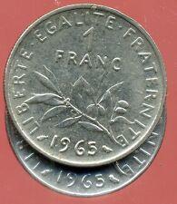 FRANCE   FRANCIA   1 franc semeuse 1965  ( petite chouette )   ( bis )