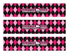 Monster High edible cake strips topper decorations