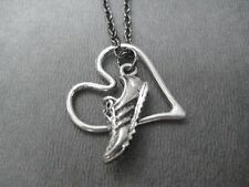 LOVE TO RUN~18inch NECKLACE~RUNNING JEWELRY~BE INSPIRED~Run with Heart Necklace