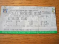 07/01/2001 Ticket: Fulham v Manchester United [FA Cup]