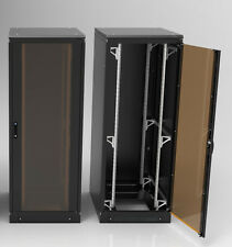 """19"""" Netzwerkschrank mit Sockel 24HE 800x1000 Serverschrank Rack mit Kippschutz"""