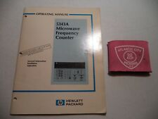 HP 5343A MICROWAVE FREQUENCY COUNTER OPERATING MANUAL (05343-90010)