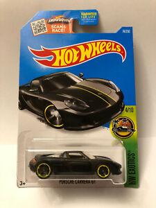 HOT WHEELS PORSCHE CARRERA GT BLACK HW EXOTICS 4/10 74/250
