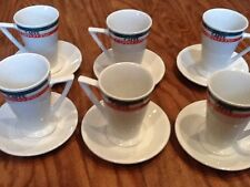 Levtov China 6 Piece Caffe cappuccino Set Cups And Saucers New