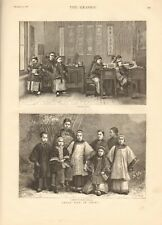 1887 ANTIQUE PRINT- CHILD LIFE IN CHINA