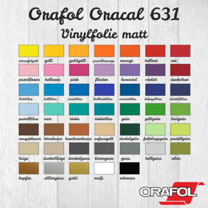 (9,52€/m²)Vinylfolie Plotterfolie Oracal 631 2xDIN A4 (21x30cm)