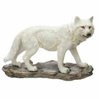"New White Ghost Wolf ""Mountain Watcher"" Ornament Figurine 21cm"