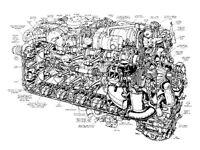 PORSCHE CAYMAN S CAR CUTAWAY POSTER PRINT 24x36 HI RES 9MIL PAPER