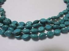 """4 Strand Green Turquoise Twistable Necklace/Choker Handmade 17"""""""