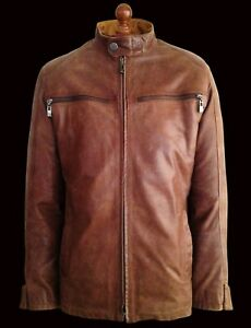 SCHOTT Motorcycle Biker Cafe Racer Bomber Perfecto Flying Pilot Bike Jacket Coat