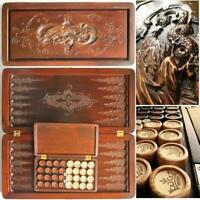"""Watlux 21"""" Luxury Backgammon Set Game Board Leather Pieces Wooden Hand Crafted"""