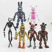6pcs/Set Five Nights At Freddy's Action Figure FNAF Toys Bonnie Foxy Freddy Faz