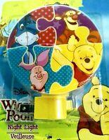 Disney WINNIE POOH, PIGLET, TIGGER Plug-in Night Light Lamp 3 Varieties NEW!