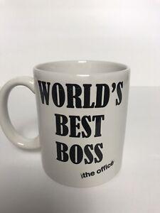 """The Office """"World's Best Boss"""" Coffee Mug OFFICIAL TV SHOW Trademark, 11 fl Oz"""