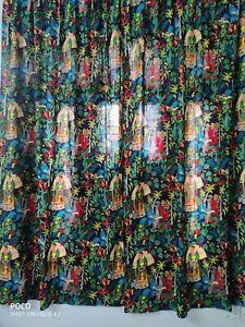 "Black FRIDA KHALO"" Indian Bohemian Home Curtains Door Room Decoration Curtain AU"