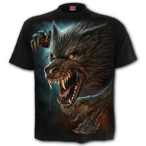 Spiral Direct WILD MOON T-Shirt Werewolf/Rock/Tee/Moon/Mystical/Animal/Rips/Top