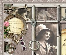 Shabby Vtg Chic Victorian Roses Jewelry Fashion Ebay Listing Auction Template