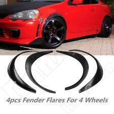 4Pcs Universal Fender Flares Flexible/Durable Black Fenders Polyurethane For Car