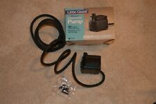 New Little Giant Miniature Pompe Submersible Water Pond Pump 63 Gal./Hr