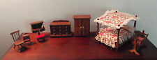 LOT Vintage Concord Miniatures Wooden Dollhouse Furniture NOS