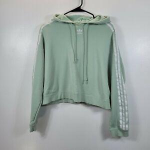 Adidas Originals Women's Cropped Hooded Sweatshirt- Green Sz M