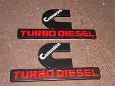 2006 2007 2008 2009 2010 2011 2012 DODGE RAM CUMMINS TURBO DIESEL EMBLEMS B/RED
