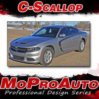 2016 Dodge Charger Pro 3M Vinyl Graphics C-SCALLOP Hood Side Decals Stripes B2