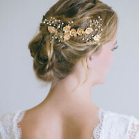 1PC Bridal wedding flower hair comb headband pearl alloy women hair accessories-