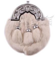 Full Dress Deluxe Scottish Celtic Thistle Rabbit Fur Sporran, LI-SCO-0055