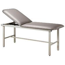 """Treatment Exam Table Steel frame Adj backrest 27"""" Cream"""