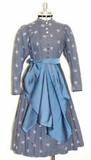 BLUE ~ LONG Bavarian Women German Frontier Prairie Waitress DIRNDL Party DRESS S