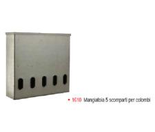 MANGIATOIA ANTI SPRECO PER COLOMBI 5 SCOMPARTI 50X45 CM