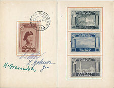 Poland 2nd Corps in Italy Card 1946 WW2 Cinderella/Locals General Anders Signed*