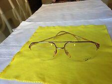 SWANK Puma 514 803 Optical Eyeglass Semi Rimless Frame with Demo Lenses - France