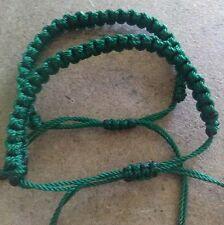 Two dark green friendship Erik's bracelets lucky st Patrick's day handmade
