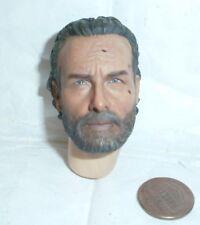 Threezero Rick Grimes Walking Dead headsculpt 1/6th scale toy accessory