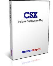 B&O now CSX Indiana Sub Cincinnati to Seymour - PDF on CD - RailfanDepot