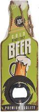 Metall-Flaschenöffner mit Retro-Look-Holzgriff in Flaschenform Cold Beer Premium