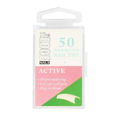 The Edge Active Nail 50 Tips Size 5 No Pre Tailoring Easy Blend False Nails
