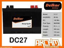 DELKOR BATTERY DEEP CYCLE - DC27 GOLF CART 80 AH SAE LHP MAINTENANCE FREE